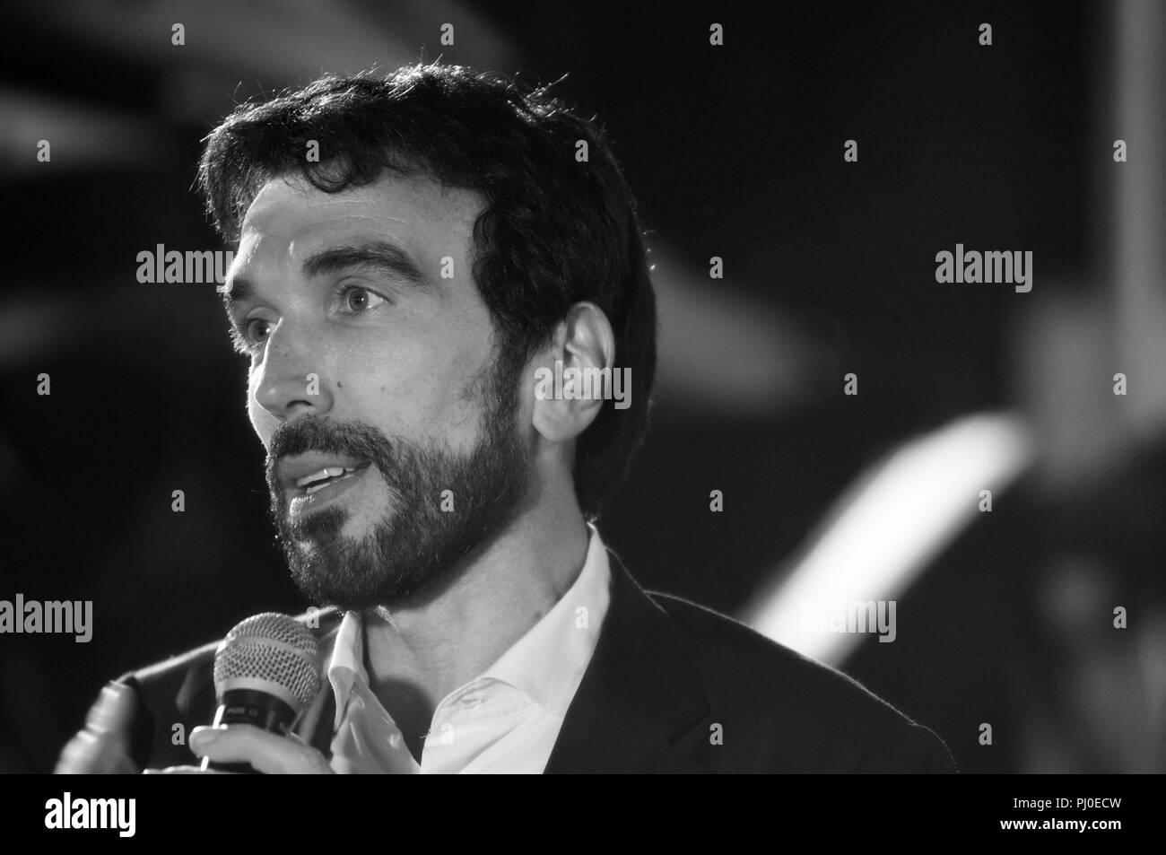 02 September 2018 Italy, Lombardy, Crema, Maurizio Martina is an Italian Politician - Stock Image