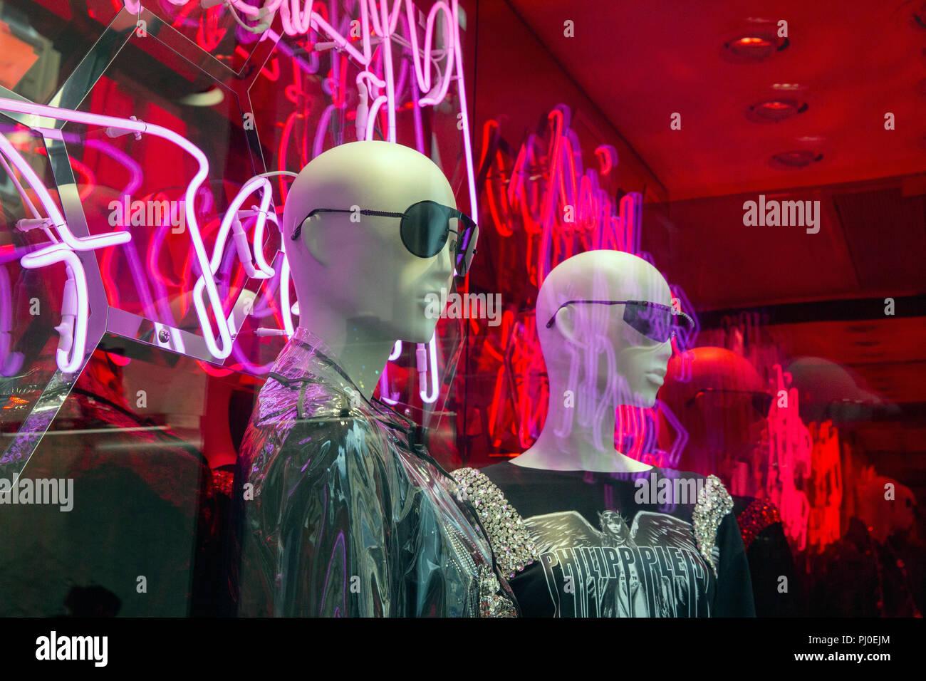028a7344595 Window display at the Philipp Plein Store on New Bond Street, London ...