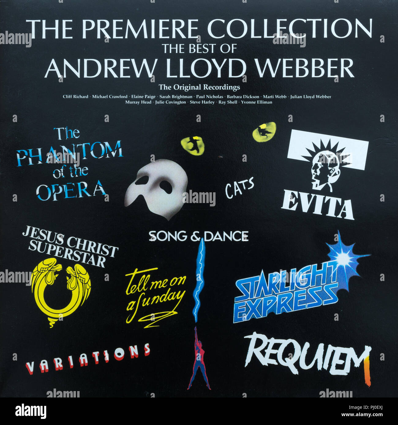 The Premiere Collection: The Best of Andrew Lloyd Webber compilation album cover - Stock Image