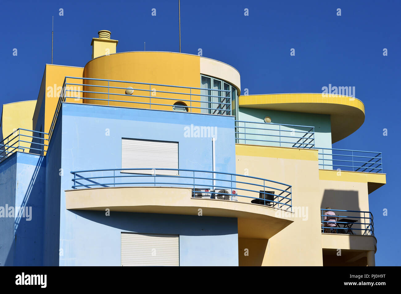 Albufeira seaside resort - Algarve - Portugal - Stock Image