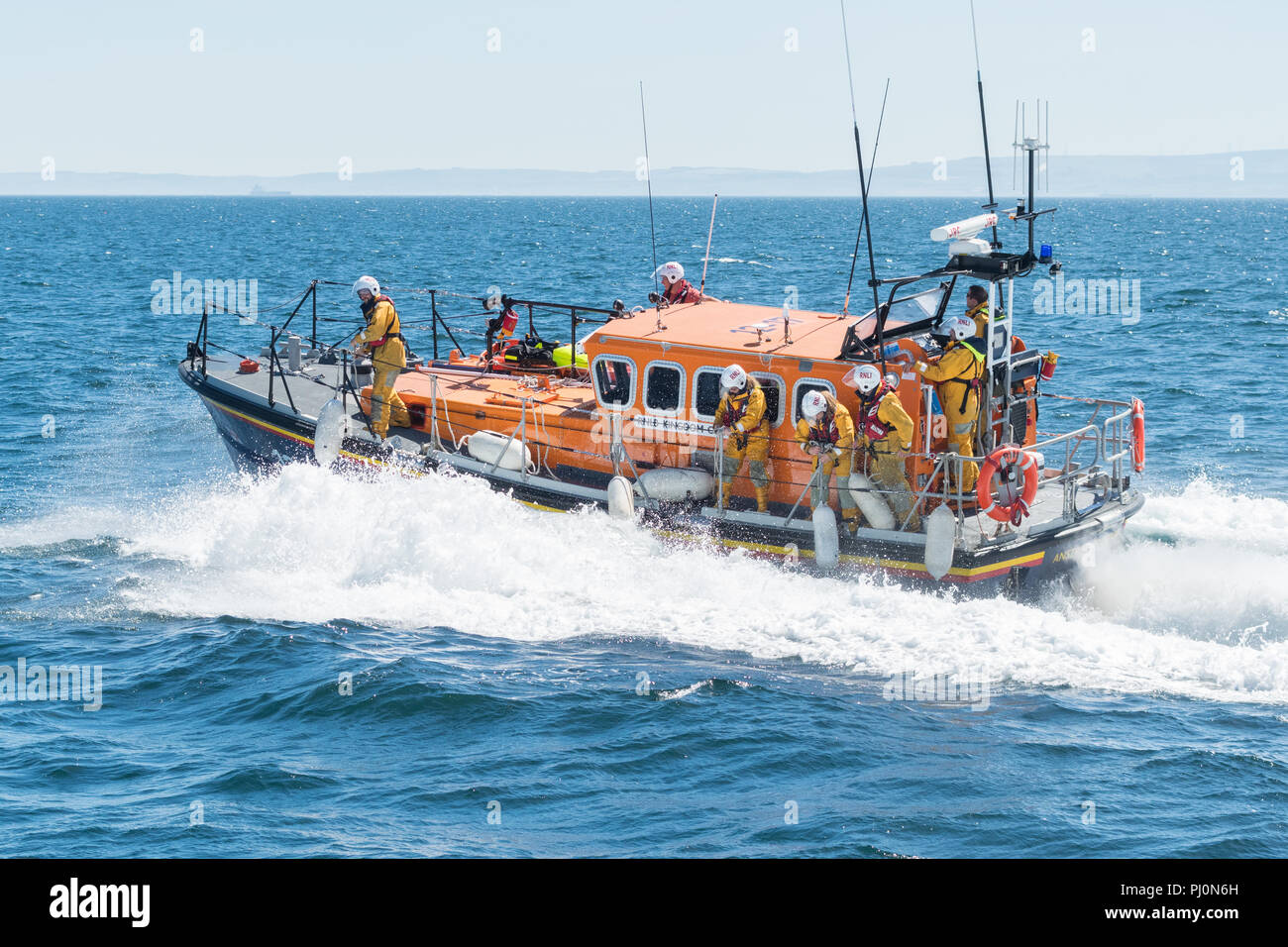 "UK lifeboat - RNLI ""Kingdom of Fife"" - Anstruther, Scotland, UK Stock Photo"