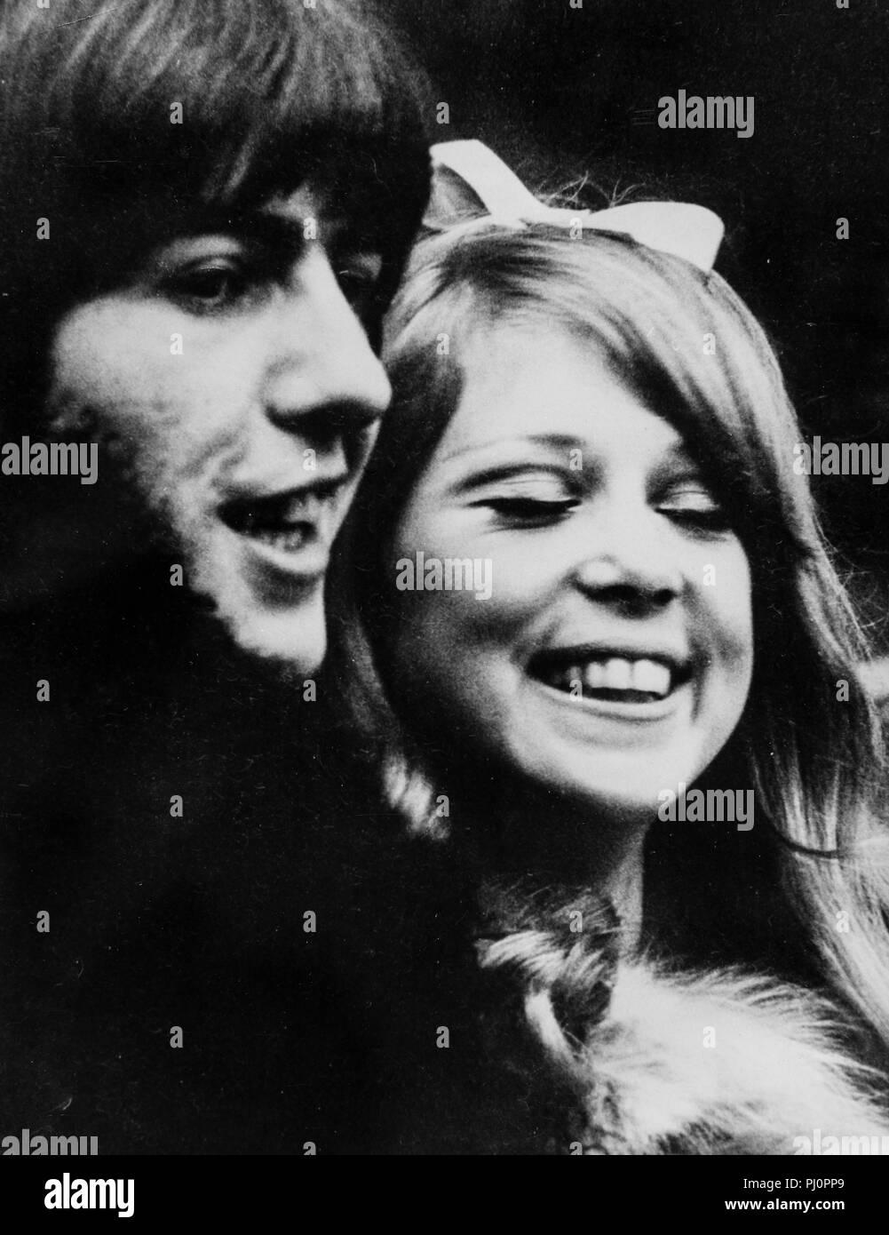 george harrison, pattie boyd, wedding, 1966 - Stock Image
