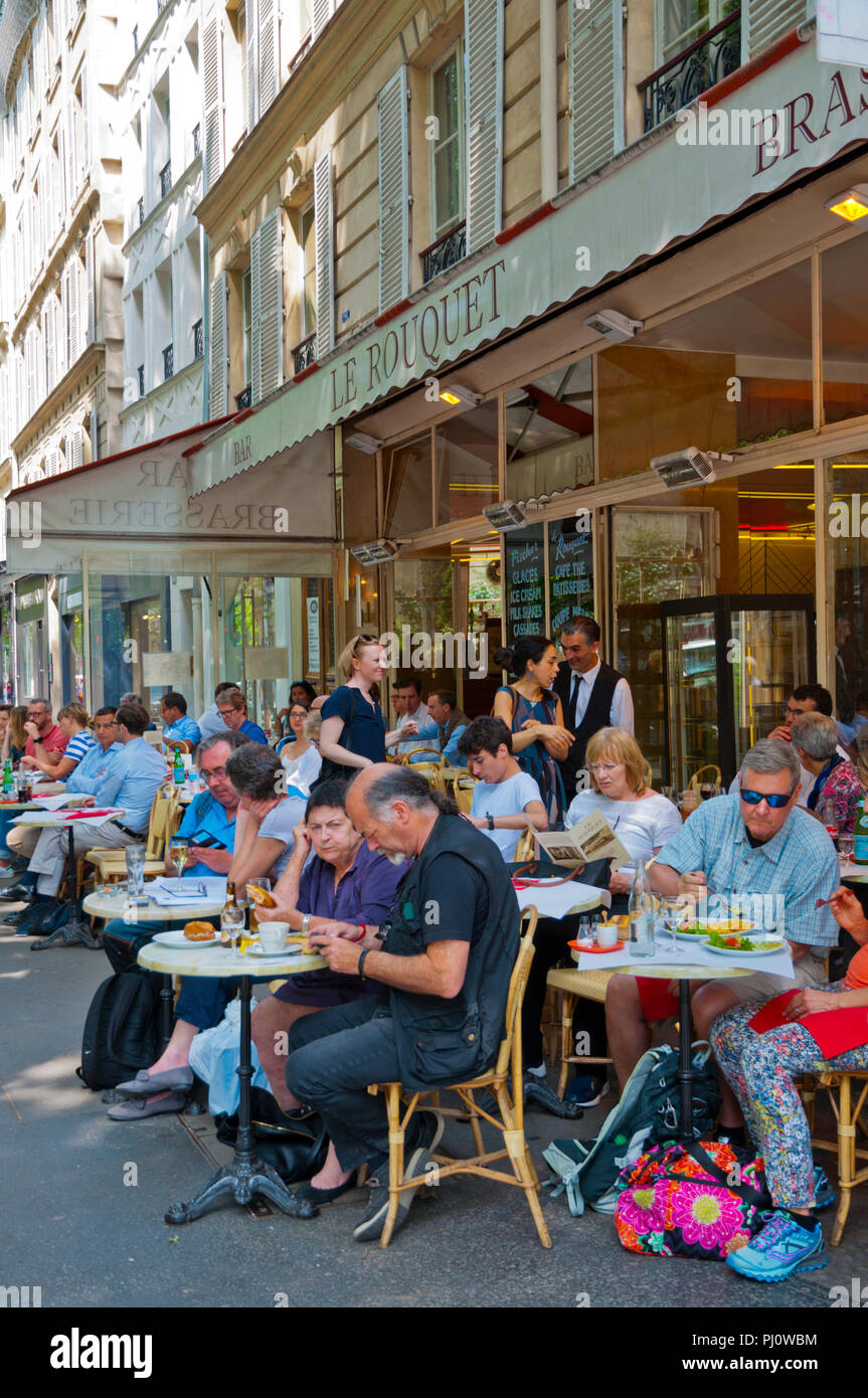 Le Roquet, Boulevard Saint Germain, St Germain des Pres, Left Bank, Paris, France - Stock Image
