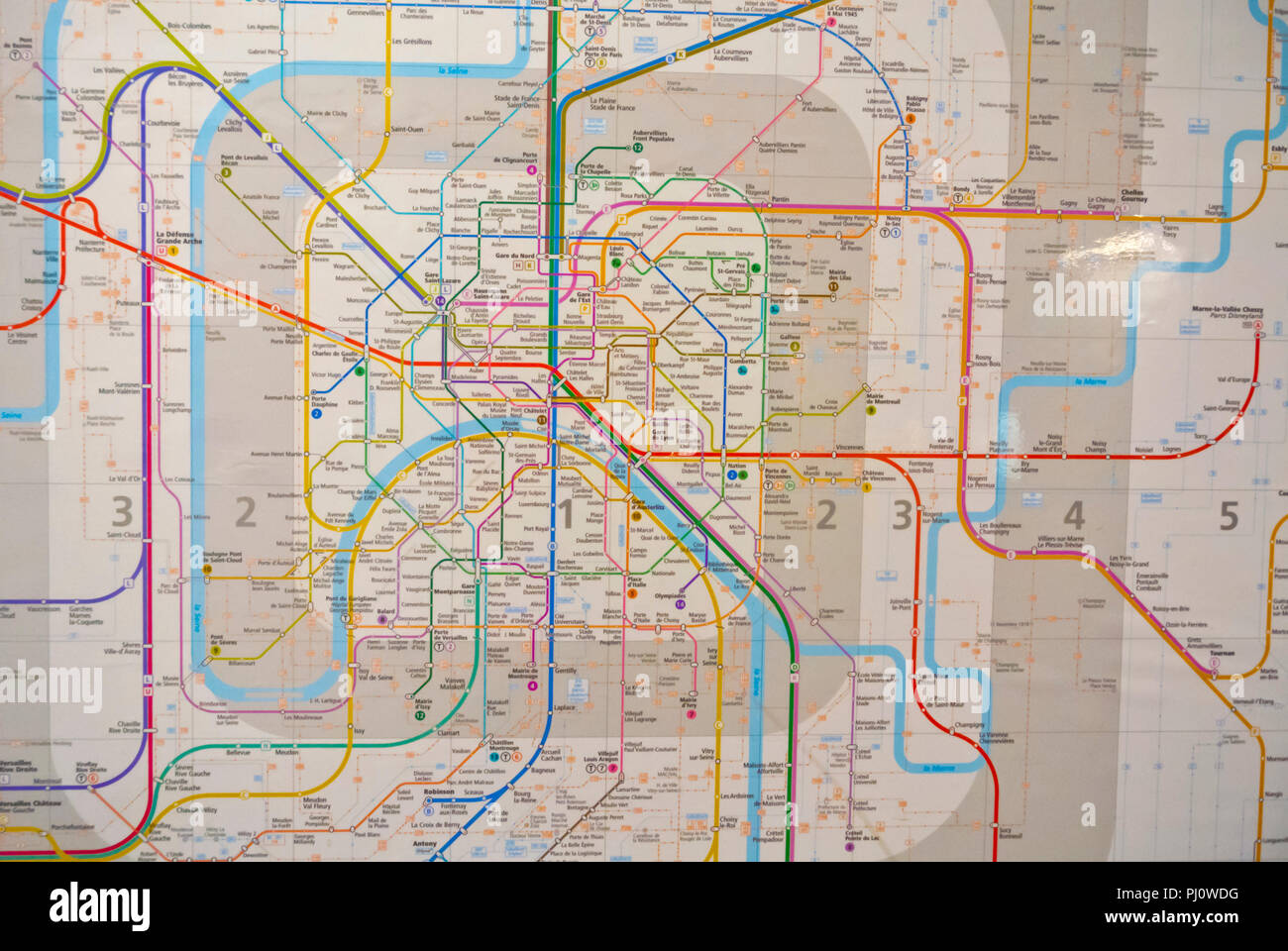 Paris Metro Map Stock Photos & Paris Metro Map Stock Images - Alamy