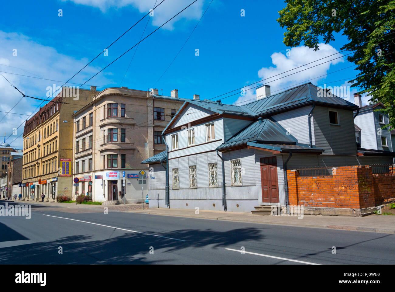 Gogola iela, Maskavas forstate, Riga, Latvia - Stock Image