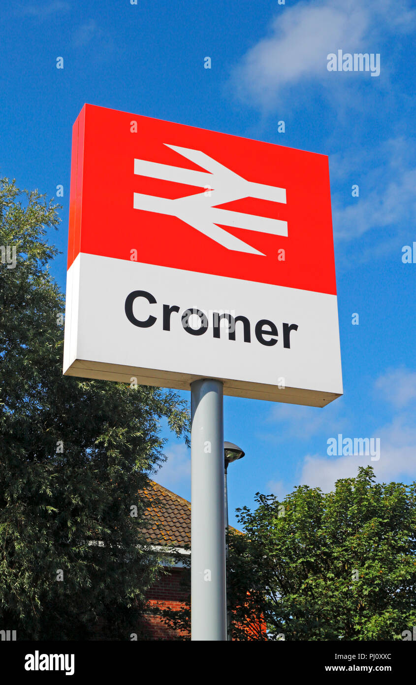 A British Rail sign outside the entrance to the railway