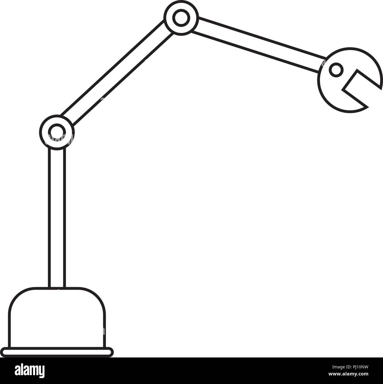 Abstract robot hand - Stock Image
