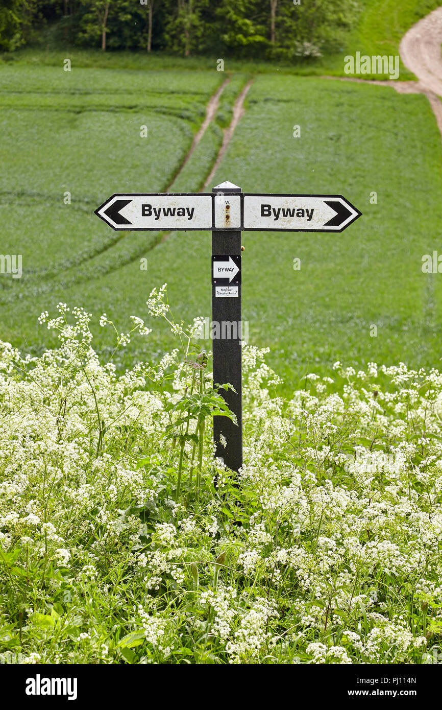 Byway in English countryside - Stock Image