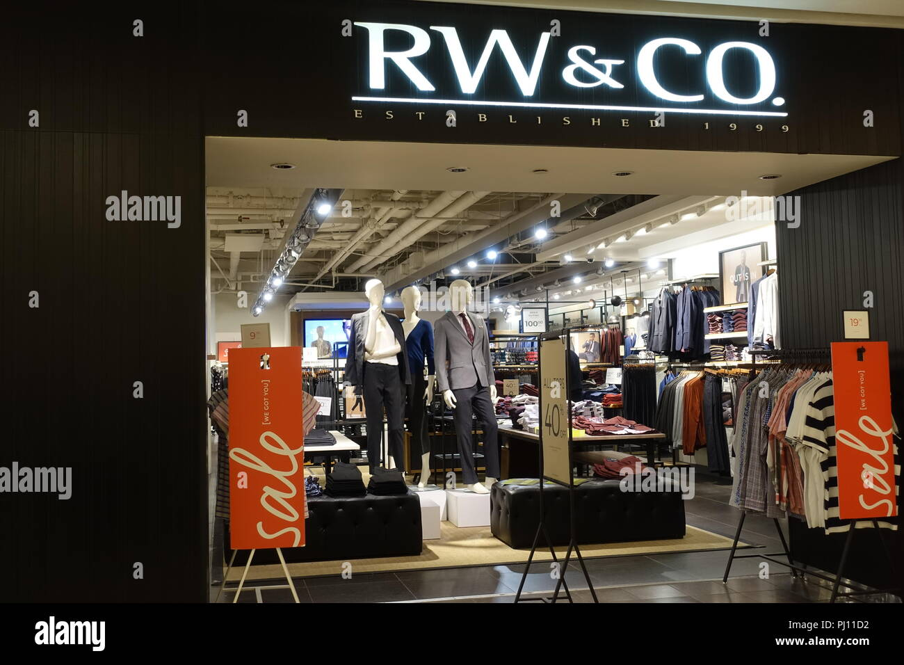 August 31 2018- Front Store RW & CO. shop in Vancouver, BC Canada - Stock Image