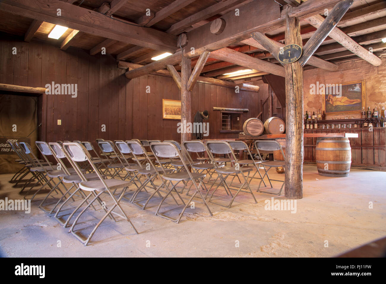 Interior of western movie studio building. - Stock Image