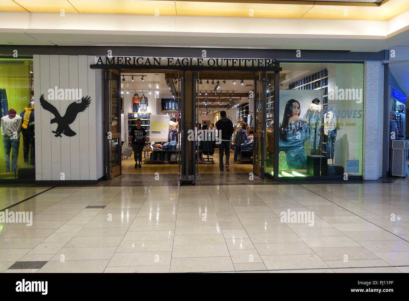 August 31 2018 American Eagle Outfitters Store Inside The Mall In Downtown Vancouver BC Canada