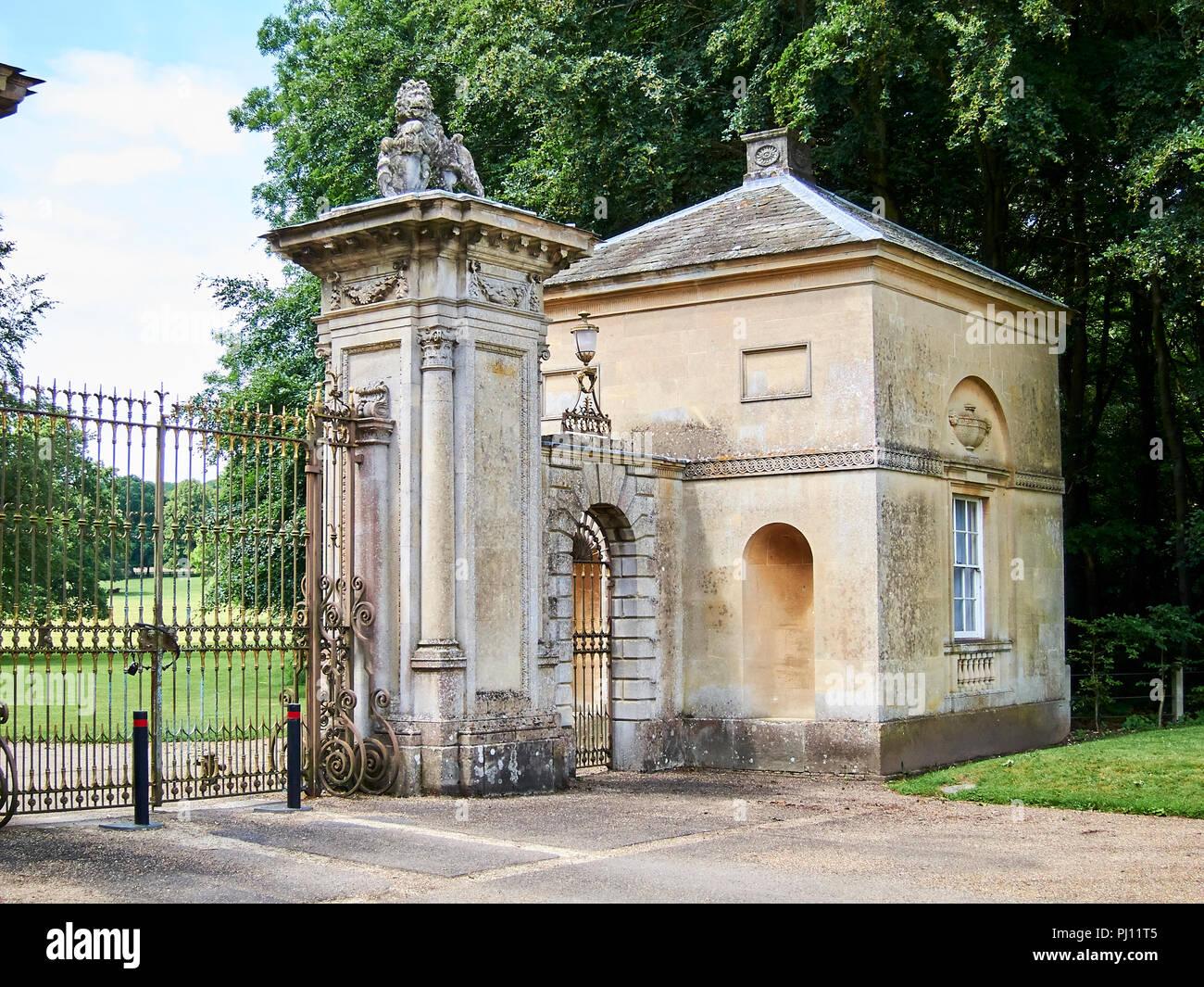 Ramsbury Manor gatehouse - Stock Image