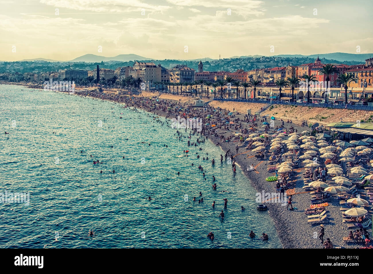 Summer time in  the city of Nice - Stock Image