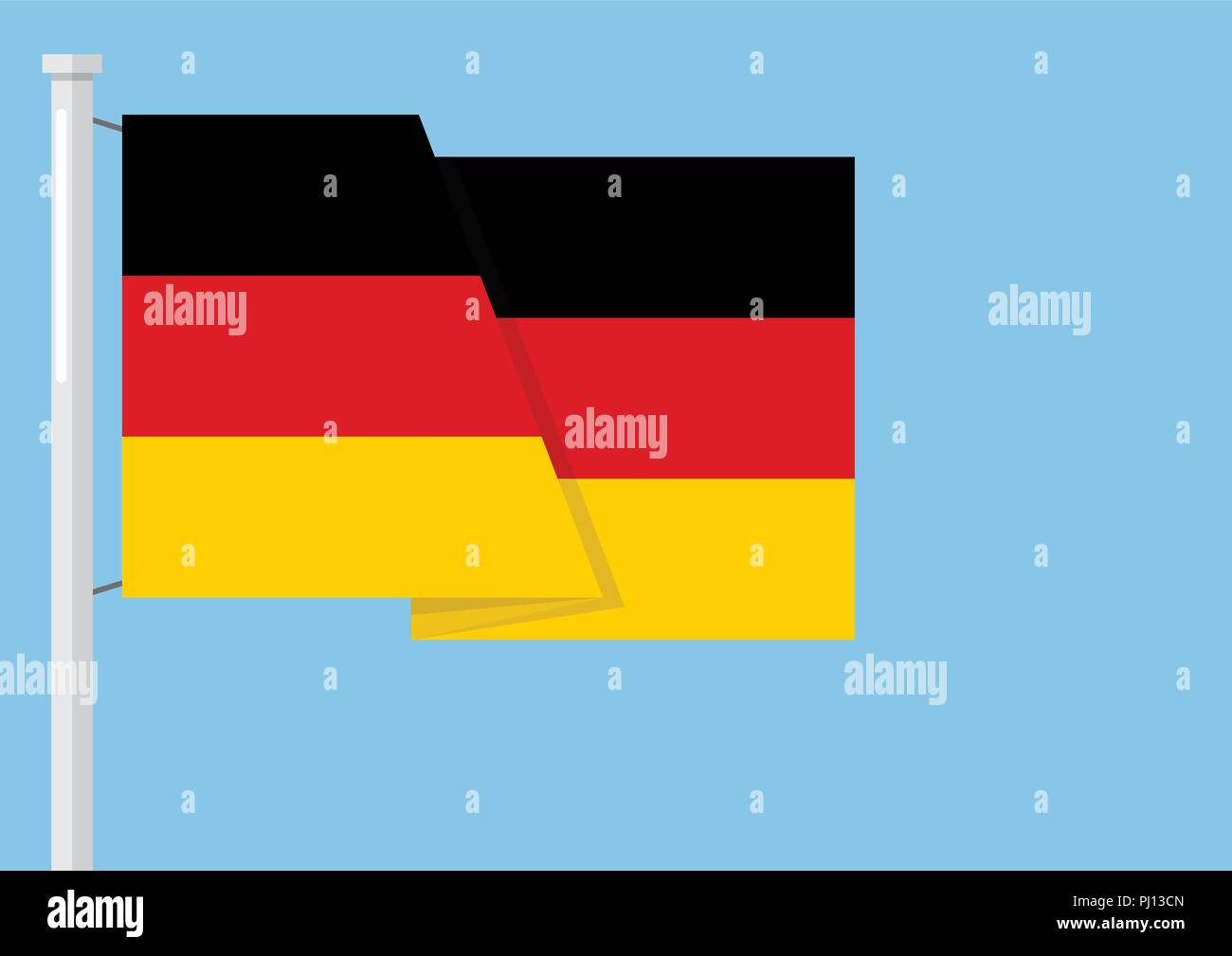 Germany flag with copyspace. Vector illustration - Stock Vector