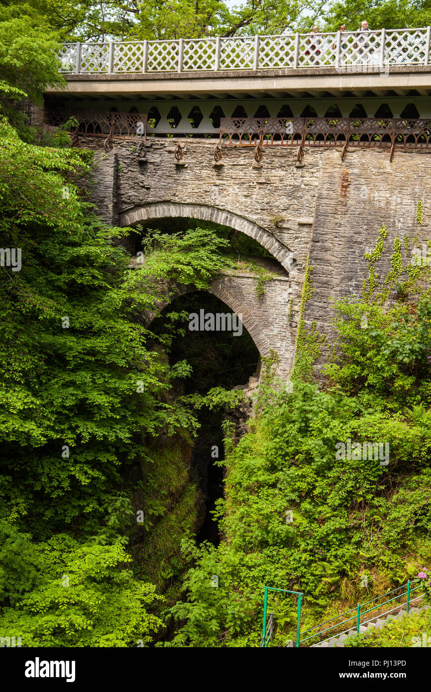 Devils Beidge and Waterfall - Stock Image