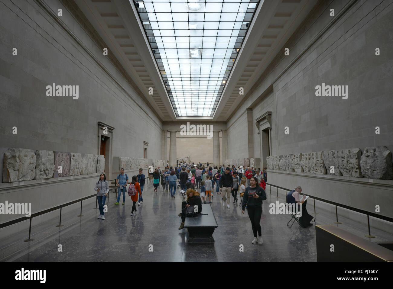 Abteilung Altertum, British Museum, Great Russell St, Bloomsbury, London, Grossbritannien - Stock Image