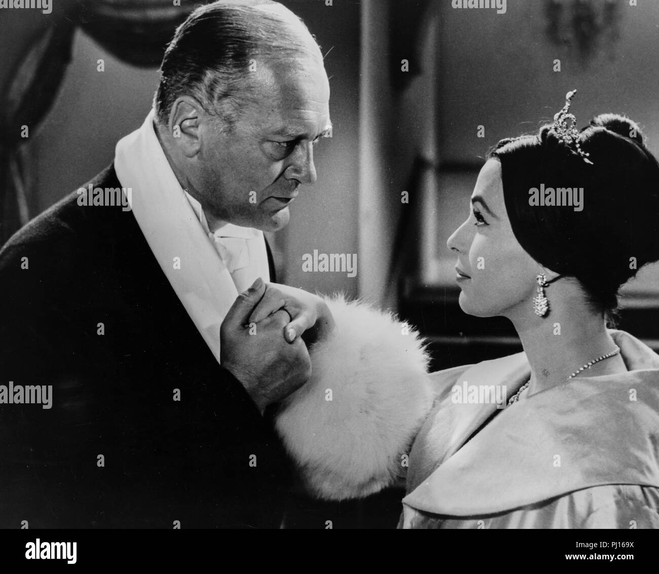 curd jurgens, claire bloom, brainwashed, 1960 - Stock Image