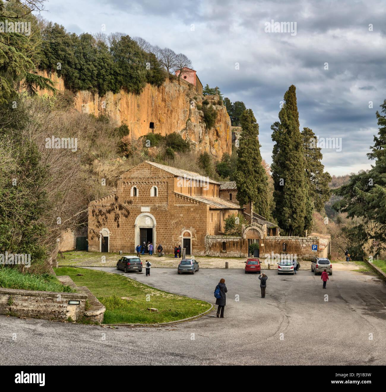 Castel Sant Elia Italia.Basilica Of Sant Elia Castel Sant Elia Viterbo Lazio Italy Stock Photo Alamy