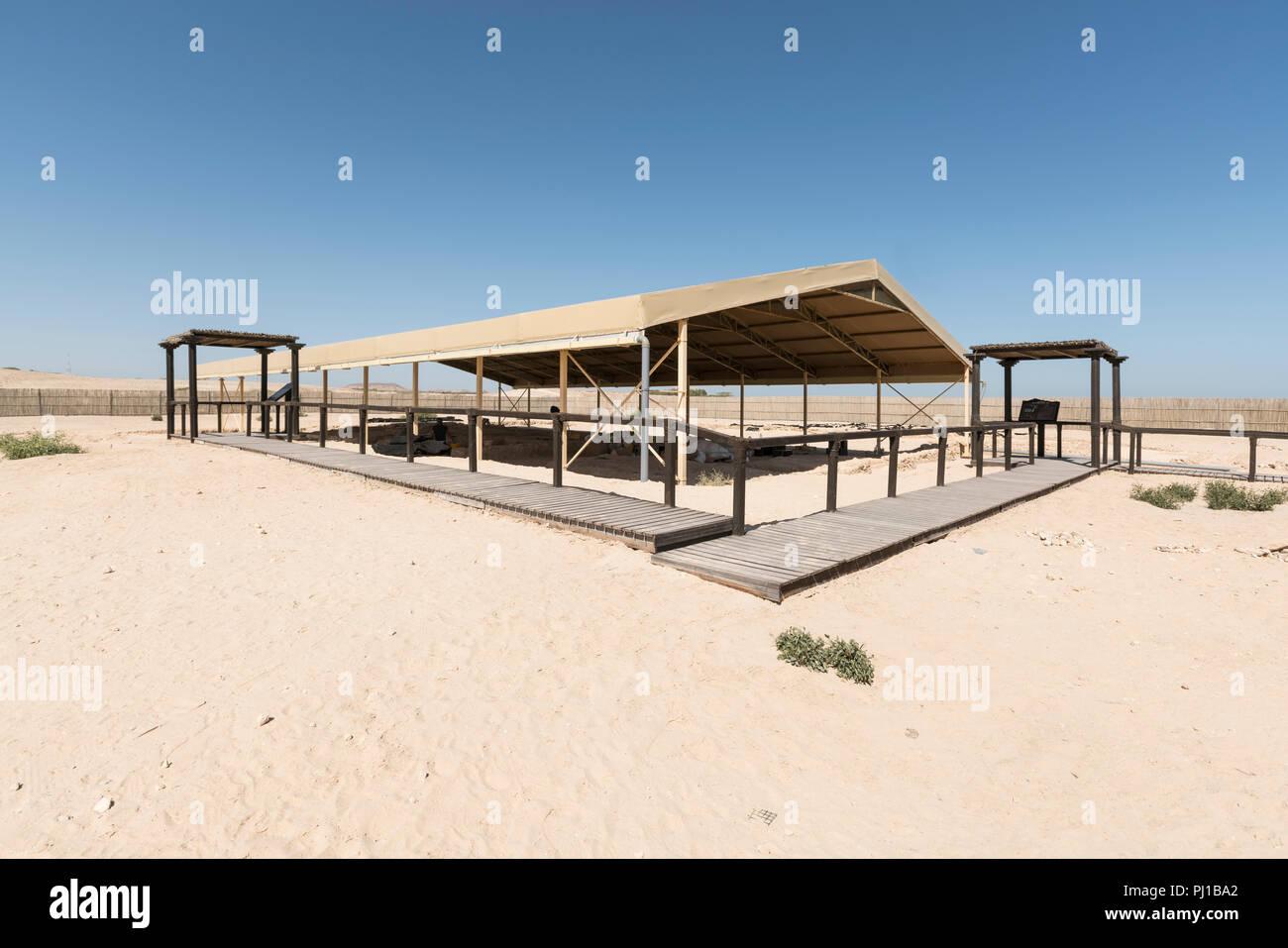 Archaeological site of a Christian church on Sir Bani Yas Island, Abu Dhabi, United Arab Emirates - Stock Image