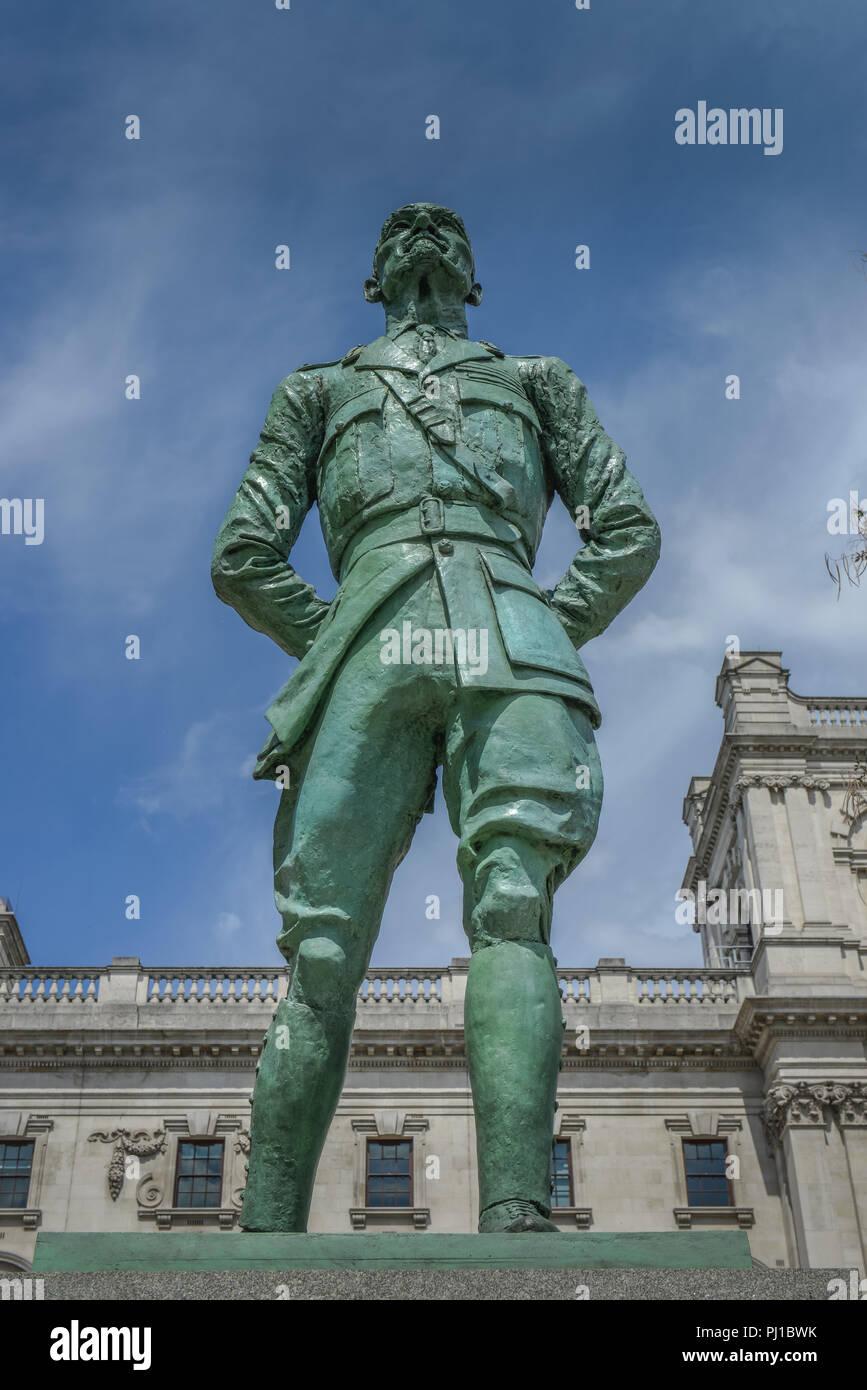 Stateu, Jan Christian Smuts, Parliament Square, London, England, Grossbritannien - Stock Image