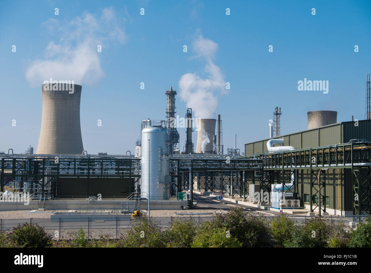 SNF UK plant at their Billingham Production site on Teeside. - Stock Image