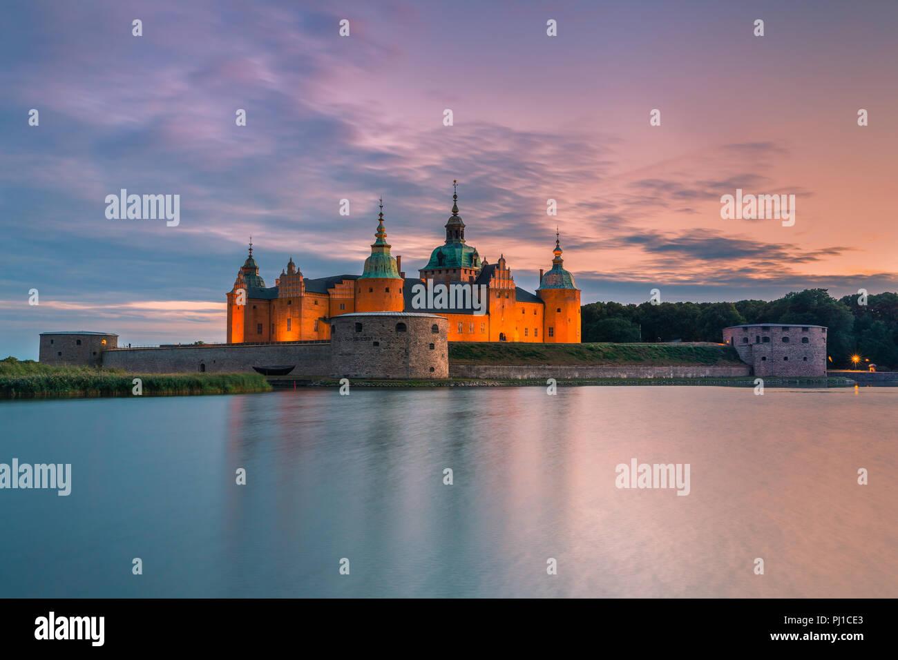 Kalmar Castle (Swedish: Kalmar slott) is a castle in the city Kalmar in the province of Smaland in Sweden. - Stock Image