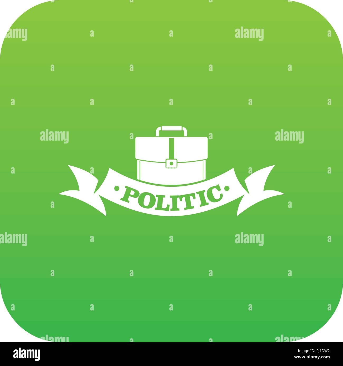 Politic icon green vector - Stock Image