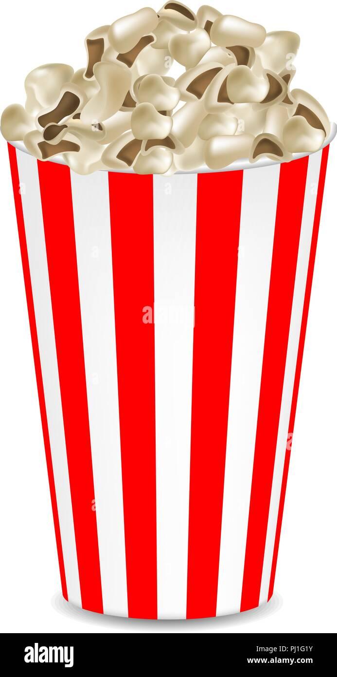 Popcorn mockup, realistic style - Stock Image