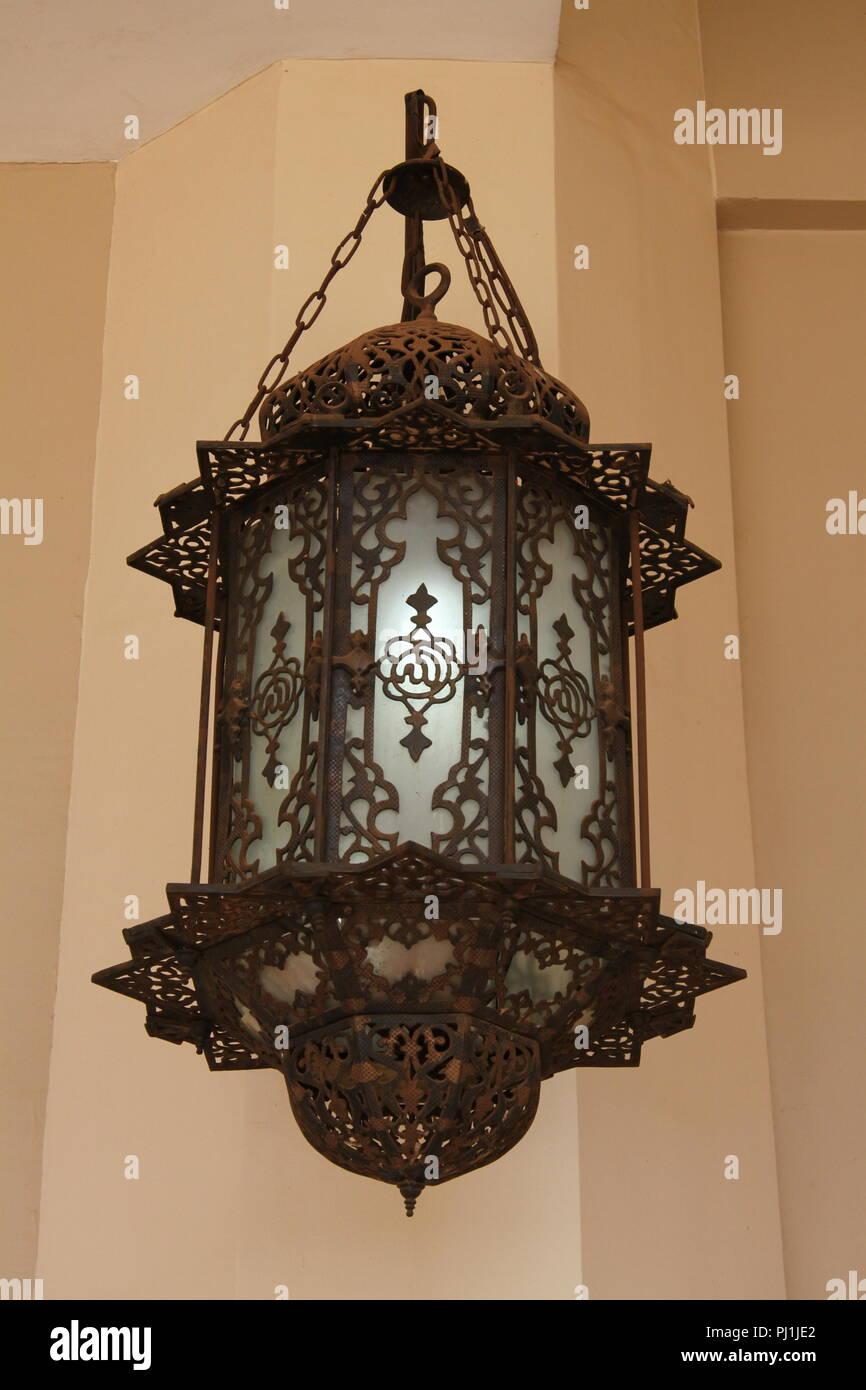 Lantern at the Gaddafi Mosque, Kampala, Uganda - Stock Image