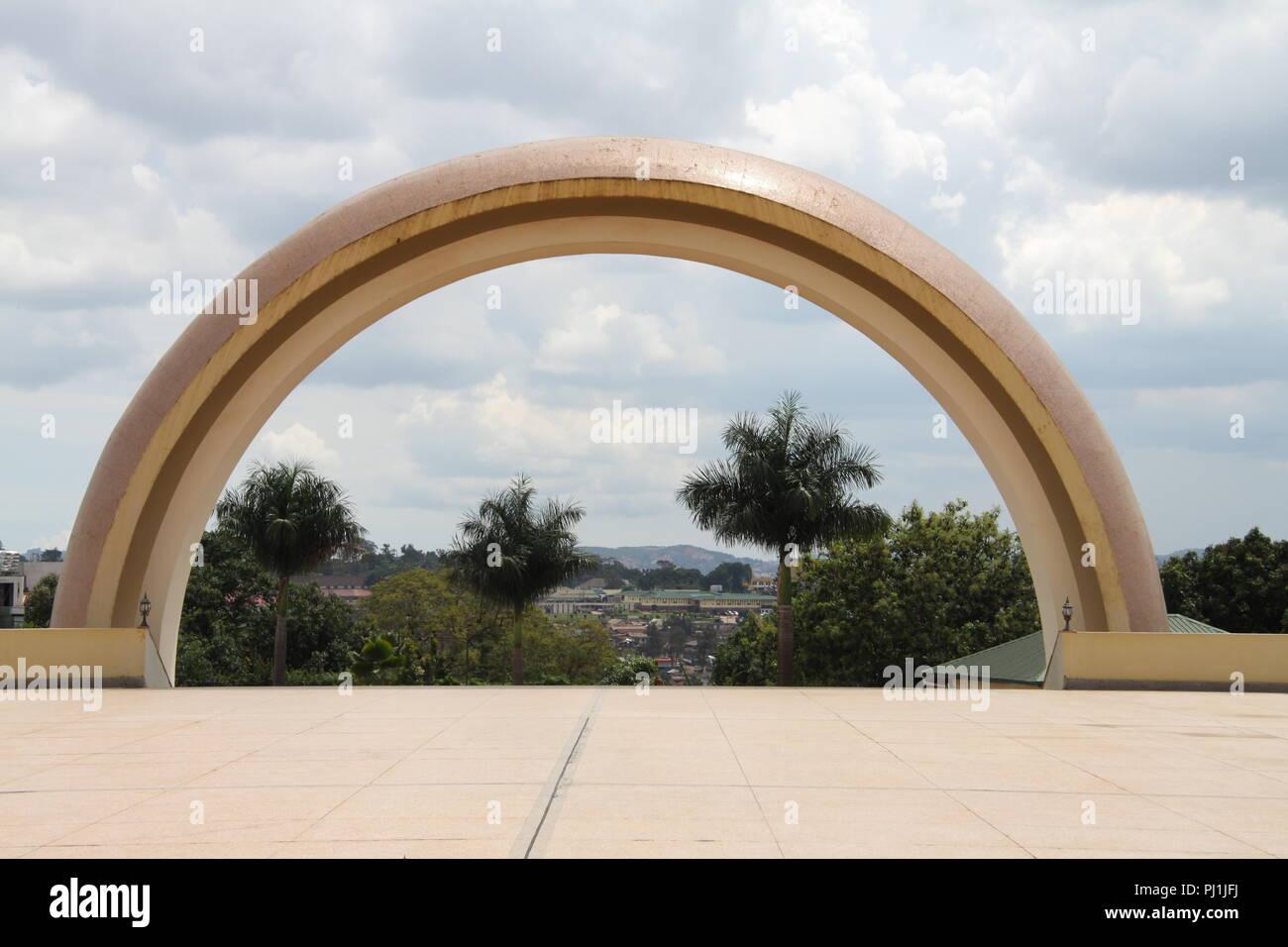View from the Gaddafi Mosque, Kampala, Uganda - Stock Image