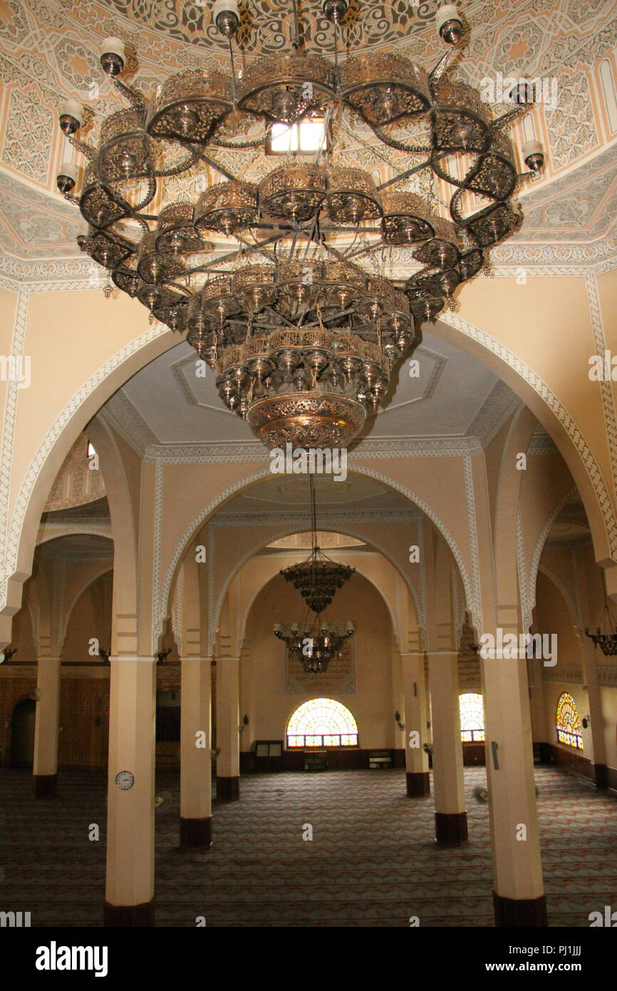The prayer hall at Gaddafi Mosque, Kampala, Uganda - Stock Image
