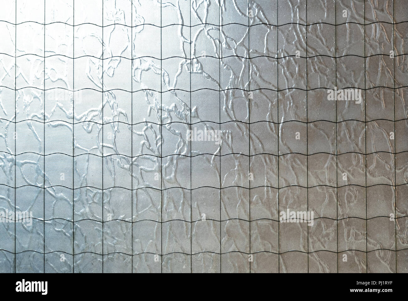 Part Of Reinforced Glass Abstract Background. Wire In The Glass.   Stock  Image