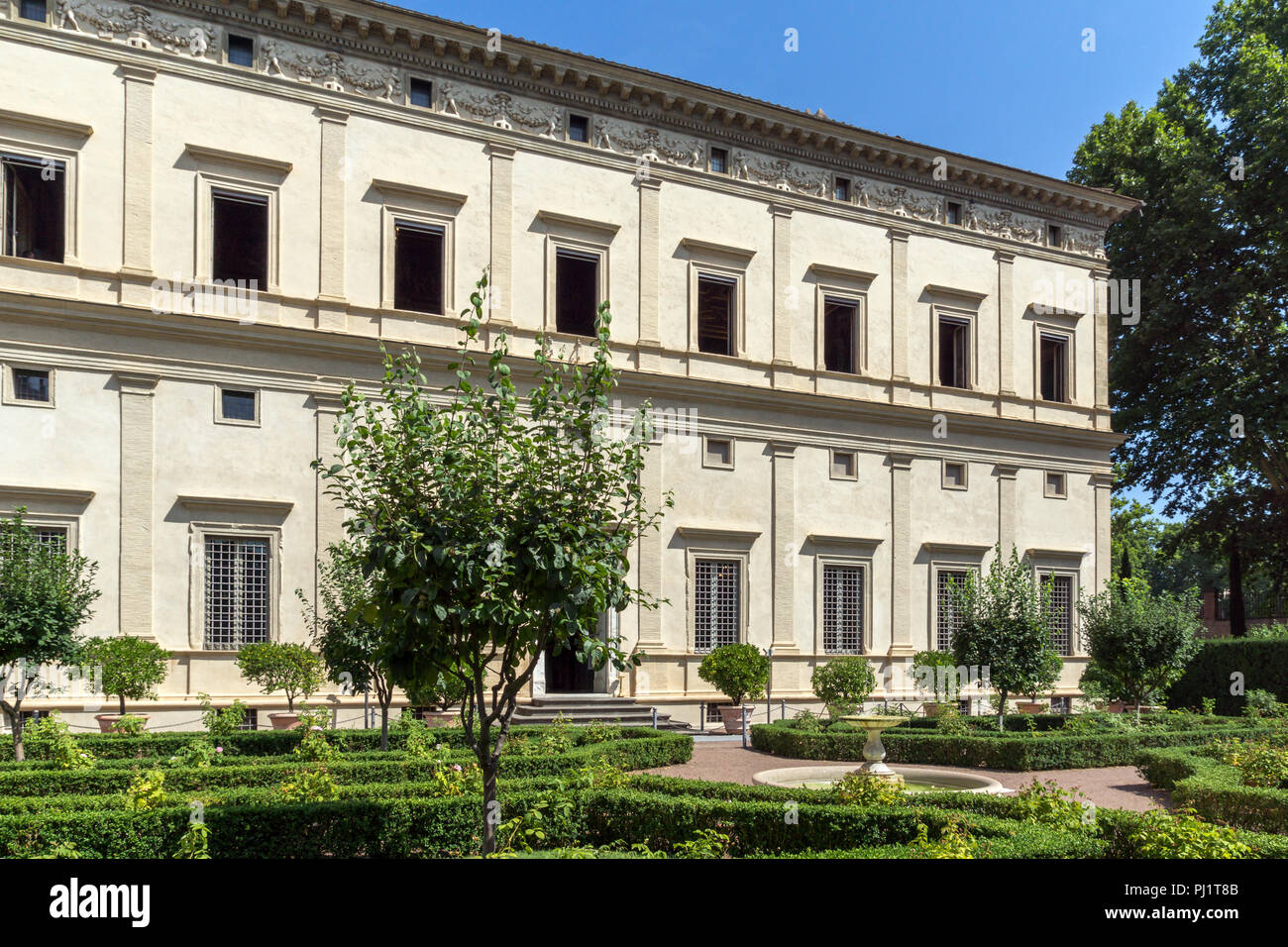 ROME, ITALY - JUNE 23, 2017: Building of Villa Farnesina in Trastavete district in city of Rome, Italy Stock Photo
