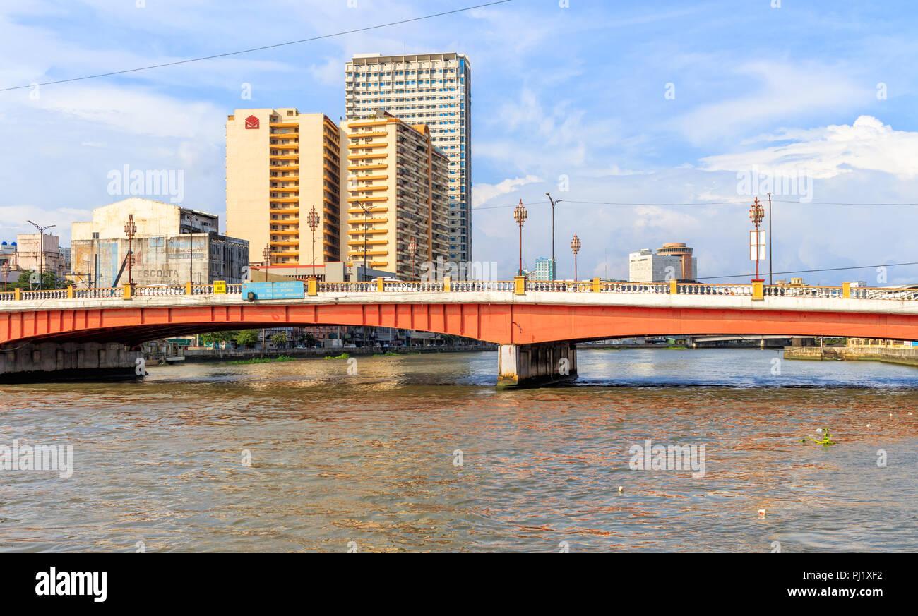 Binondo, Manila, Philippines - July 29: The Jones Bridge, Connects Rosario Street To Binondo - Stock Image