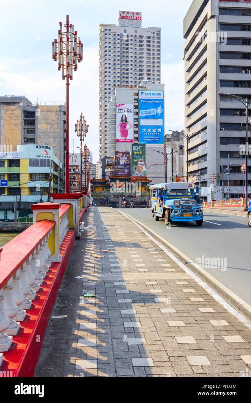 Binondo, Manila, Philippines - July 29: On The Jones Bridge - Stock Image