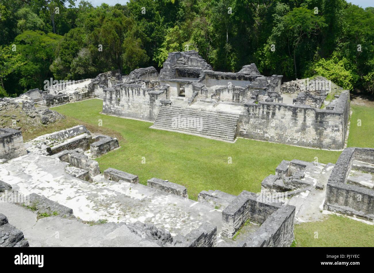 Tikal, Central Acropolis - Stock Image