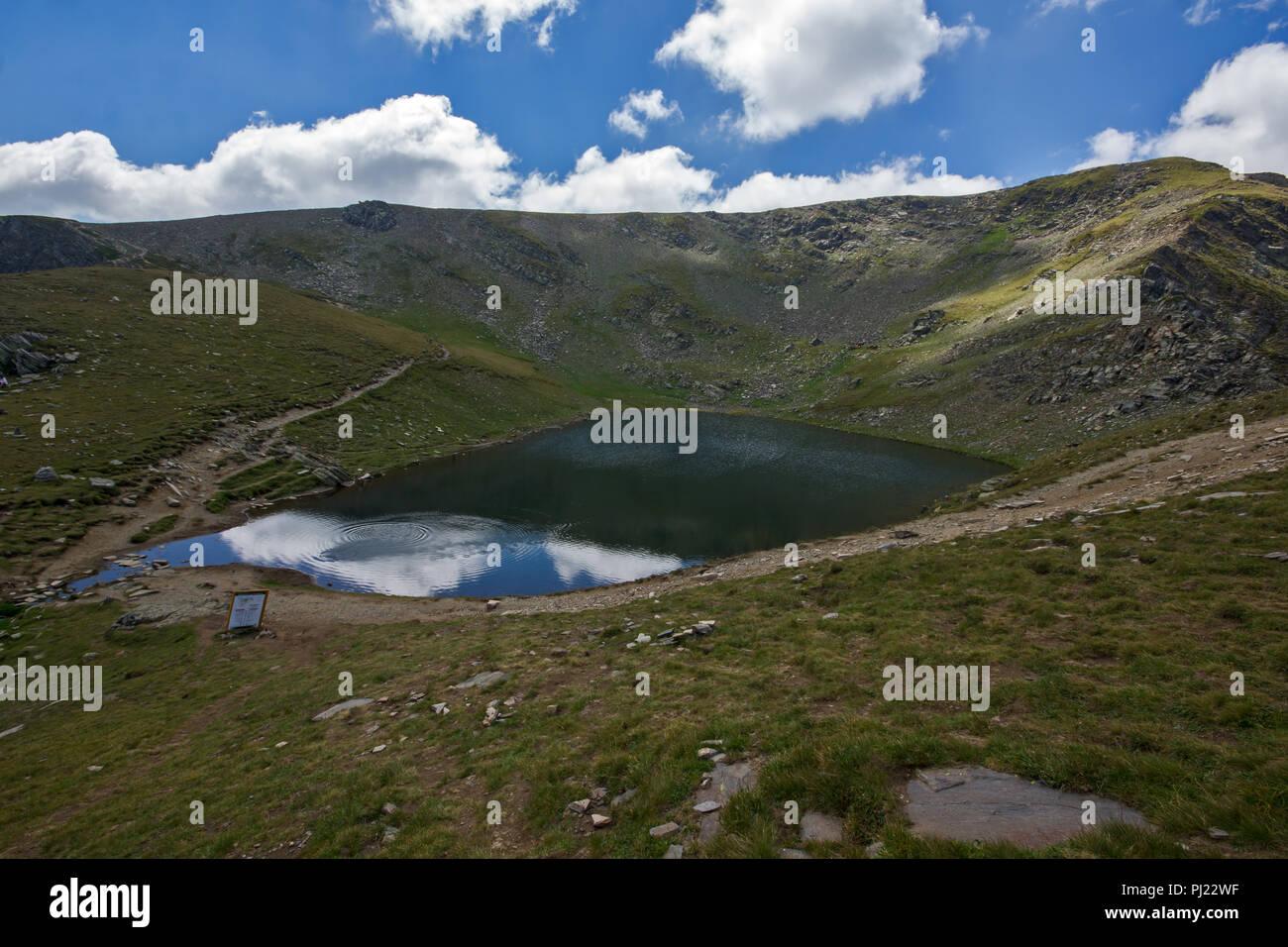 Amazing Landscape of The Tear lake, The Seven Rila Lakes, Bulgaria - Stock Image
