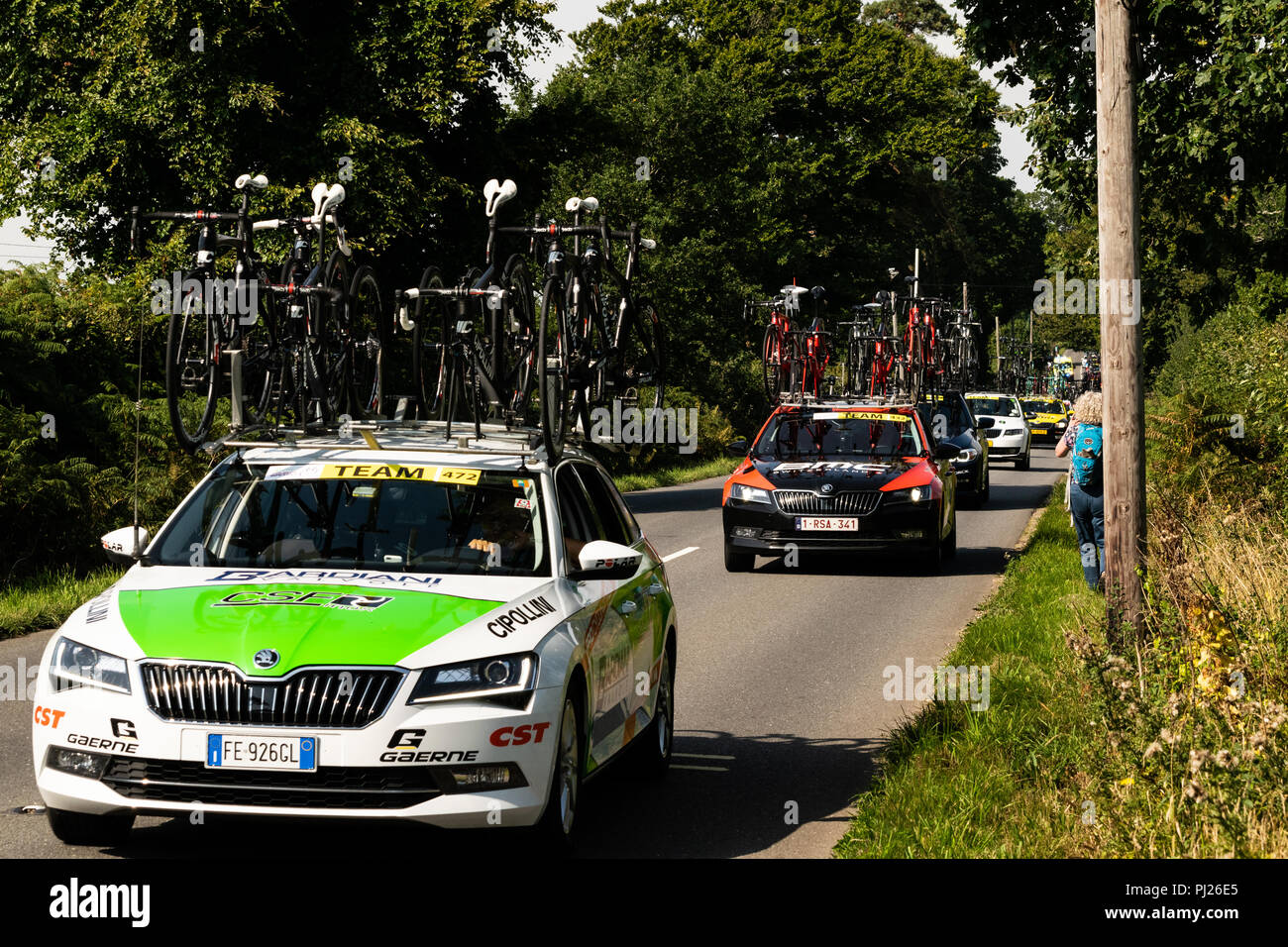 Start of the second stage of the 2018 Tour of Britain near Ottery St Mary in 970663f78