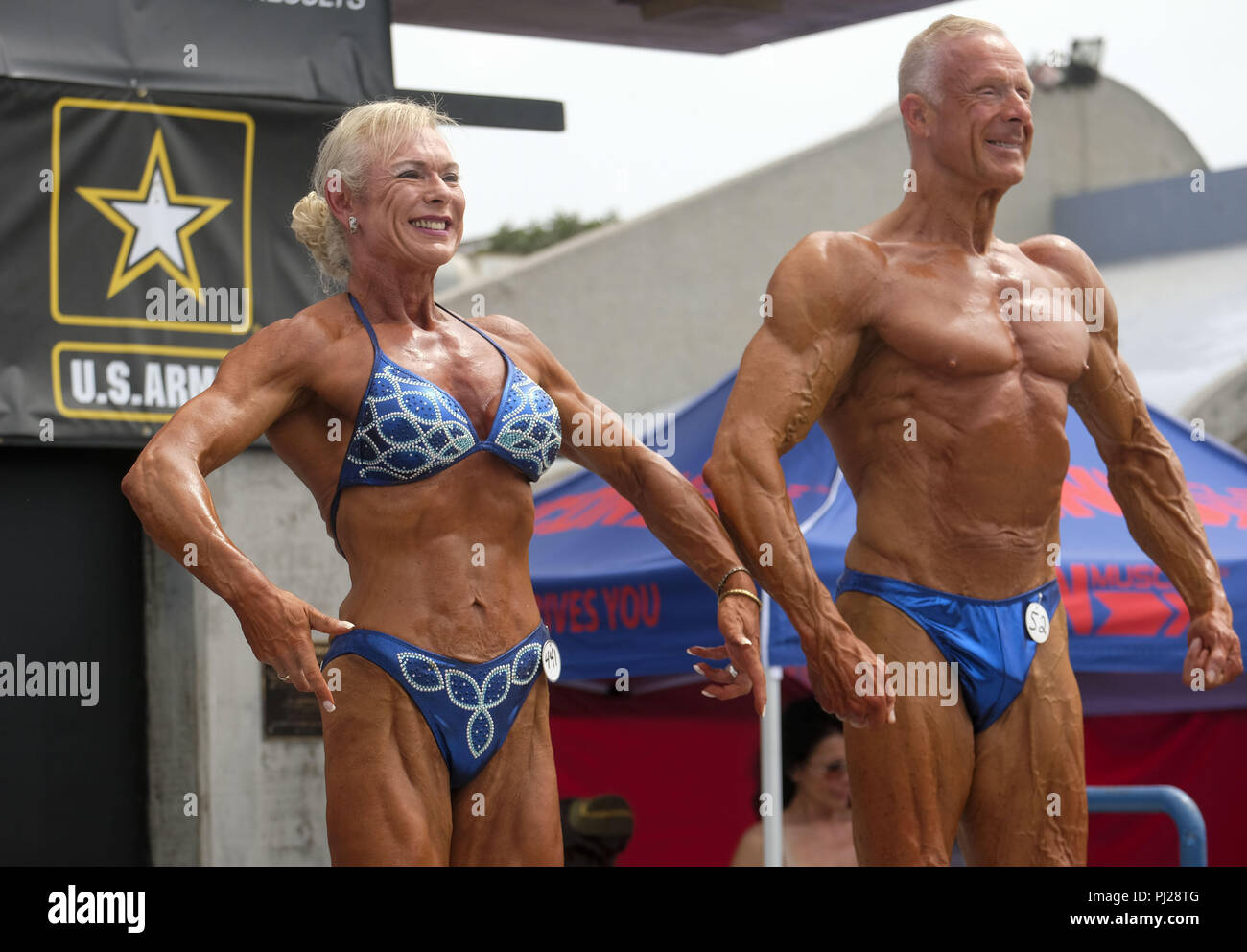 52f7343b91 The ''Muscle Beach Championship'' bodybuilding, figure bikini, vintage  swimsuit and men and women's physique contests at the Venice Beach  Recreation Center, ...