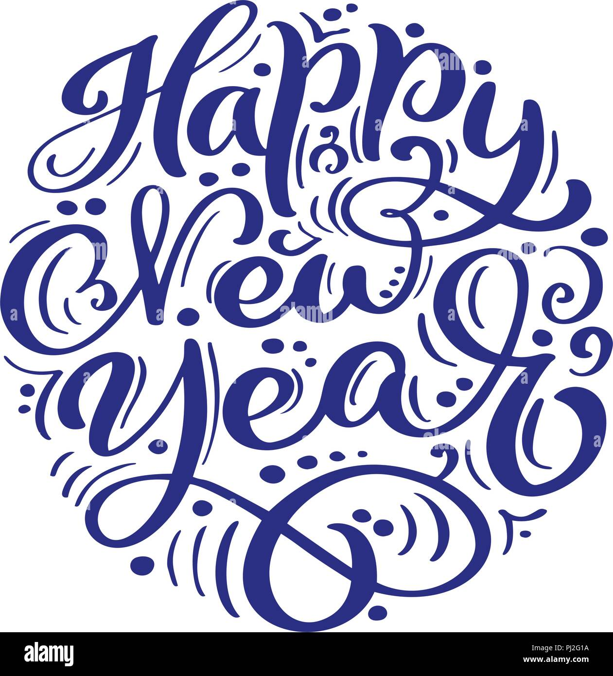 Happy New Year Lettering Design 99