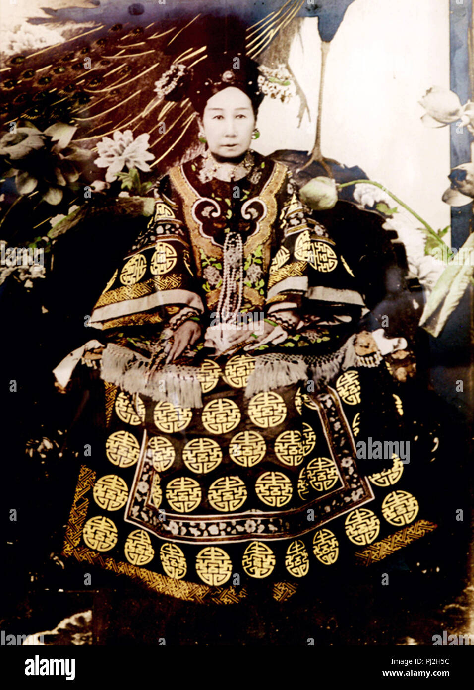 Empress Dowager Cixi (1835 – 1908), Manchu Yehenara clan, Chinese empress dowager and regent who effectively controlled the Chinese government in the late Qing dynasty for 47 years from 1861 until her death in 1908. - Stock Image