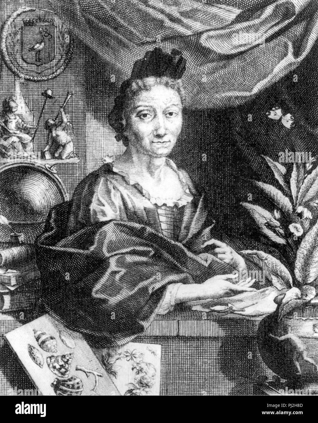 Maria Sibylla Merian (1647 – 1717) German naturalist and scientific illustrator - Stock Image