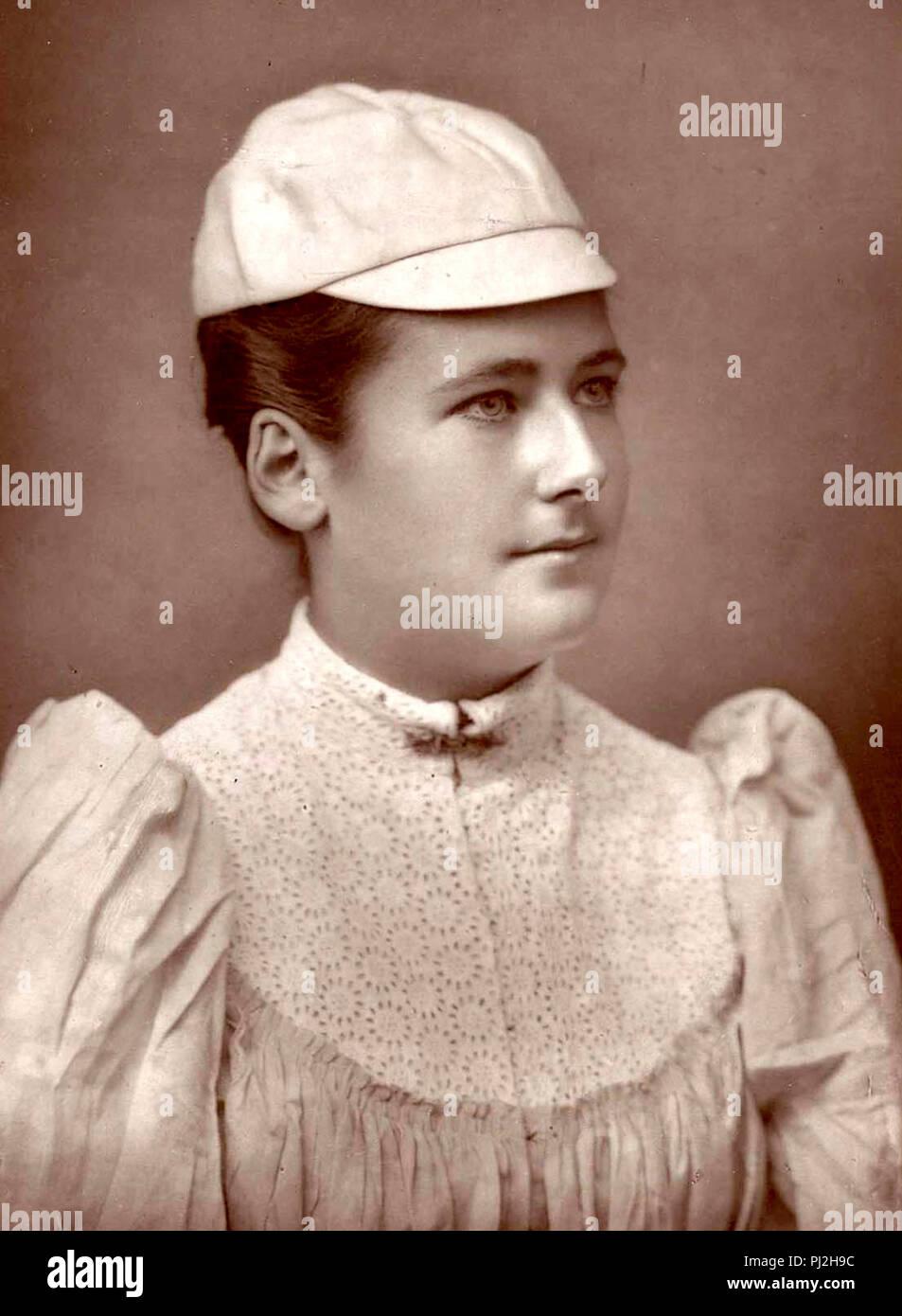 Lottie Dod, Charlotte 'Lottie' Dod (1871 – 1960) English tennis player. She won the Wimbledon Ladies' Singles Championship five times - Stock Image