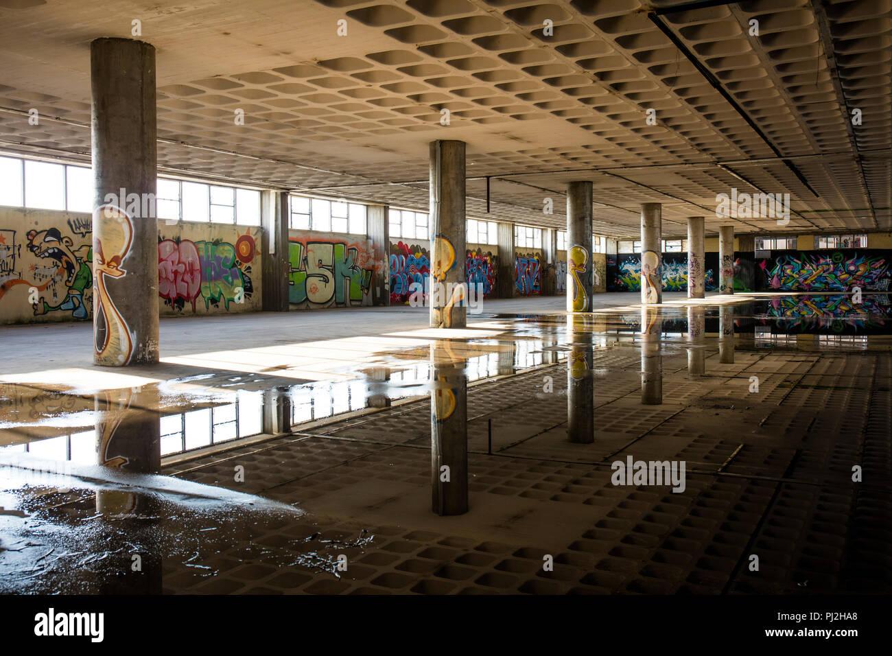 forgotten car park - Stock Image