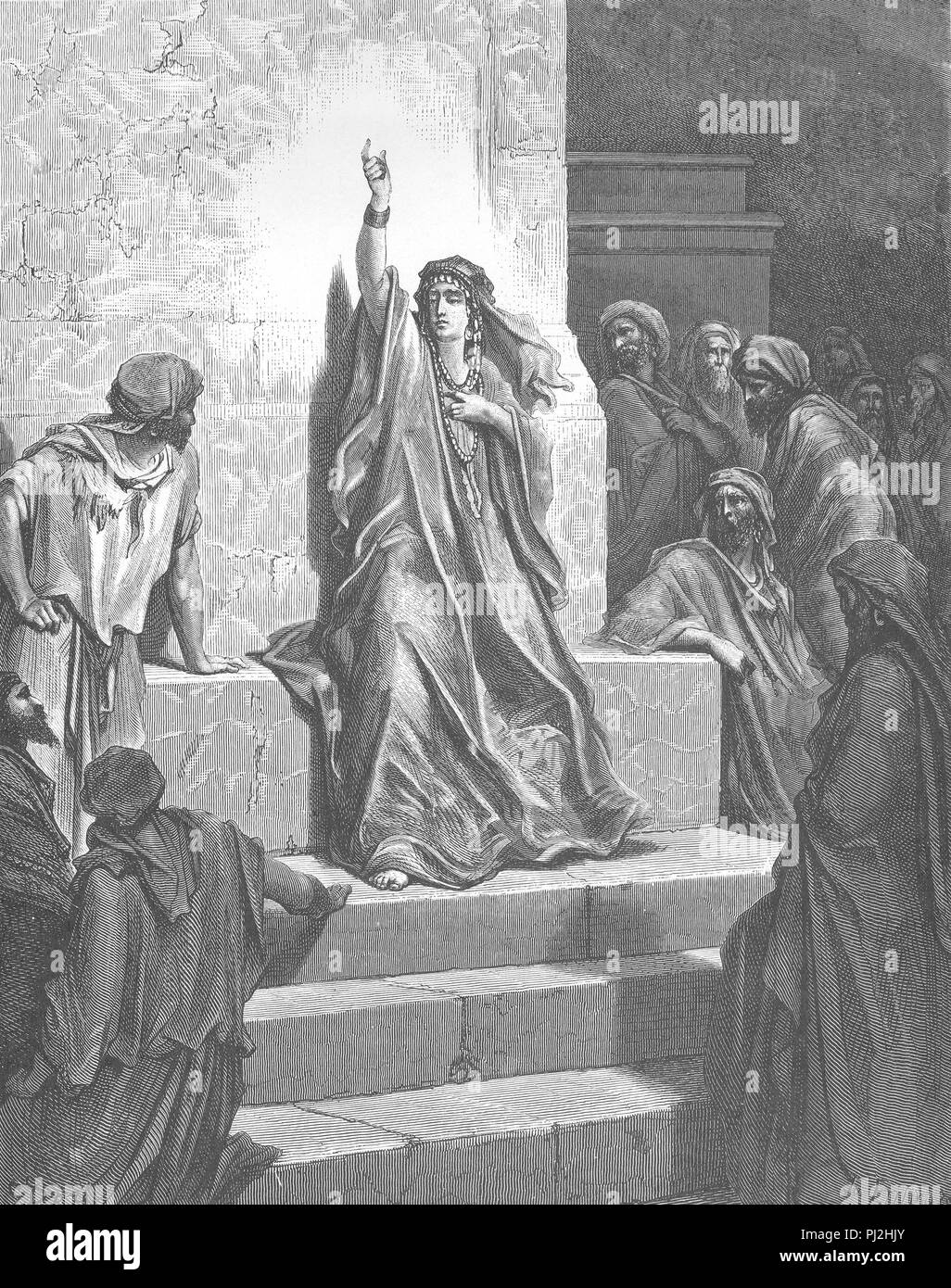 Deborah, Hebrew prophet, prophet of Yahweh the God of the Israelites, the fourth Judge of pre-monarchic Israel and the only female judge mentioned in the Bible, and the wife of Lapidoth. - Stock Image