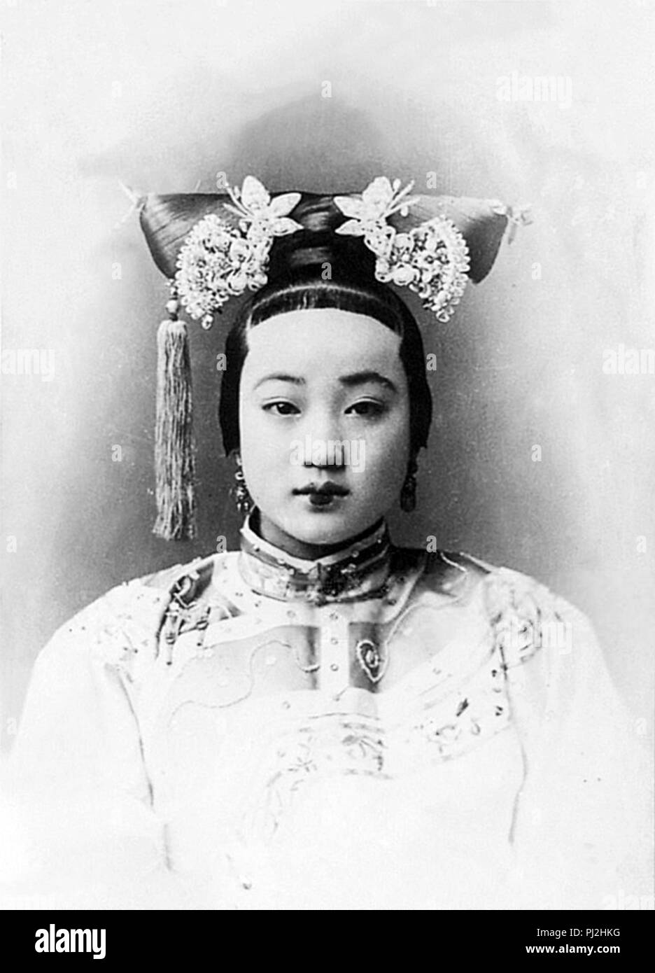 Consort Zhen, the Guangxu Emperor's most beloved consort, was initially liked, but eventually hated by Cixi. - Stock Image