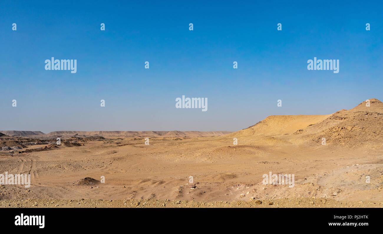 landscape mountains in the desert of Africa, Egypt - Stock Image