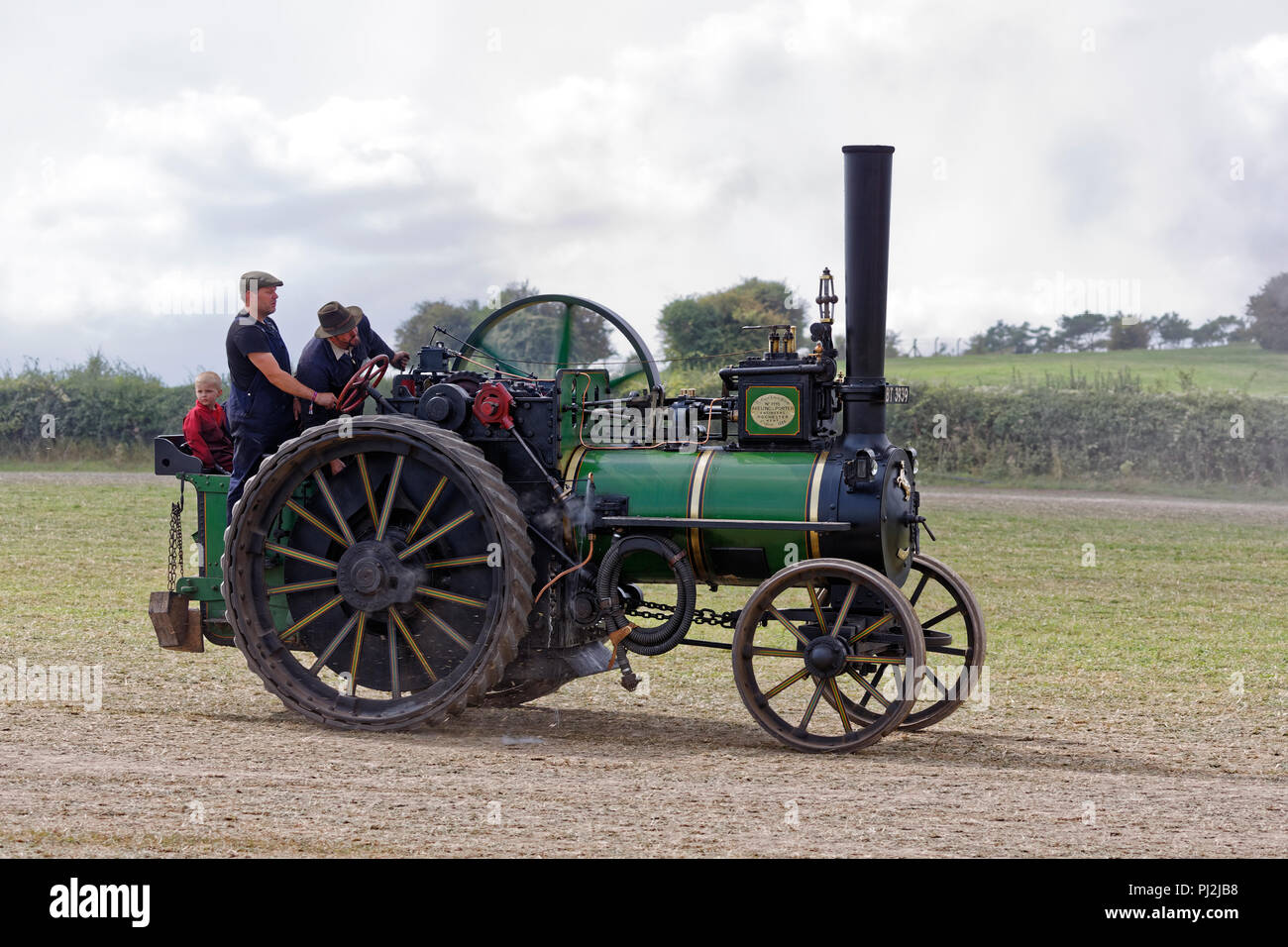 1884 Aveling & Porter Traction Engine BT3939 6nhp - Stock Image