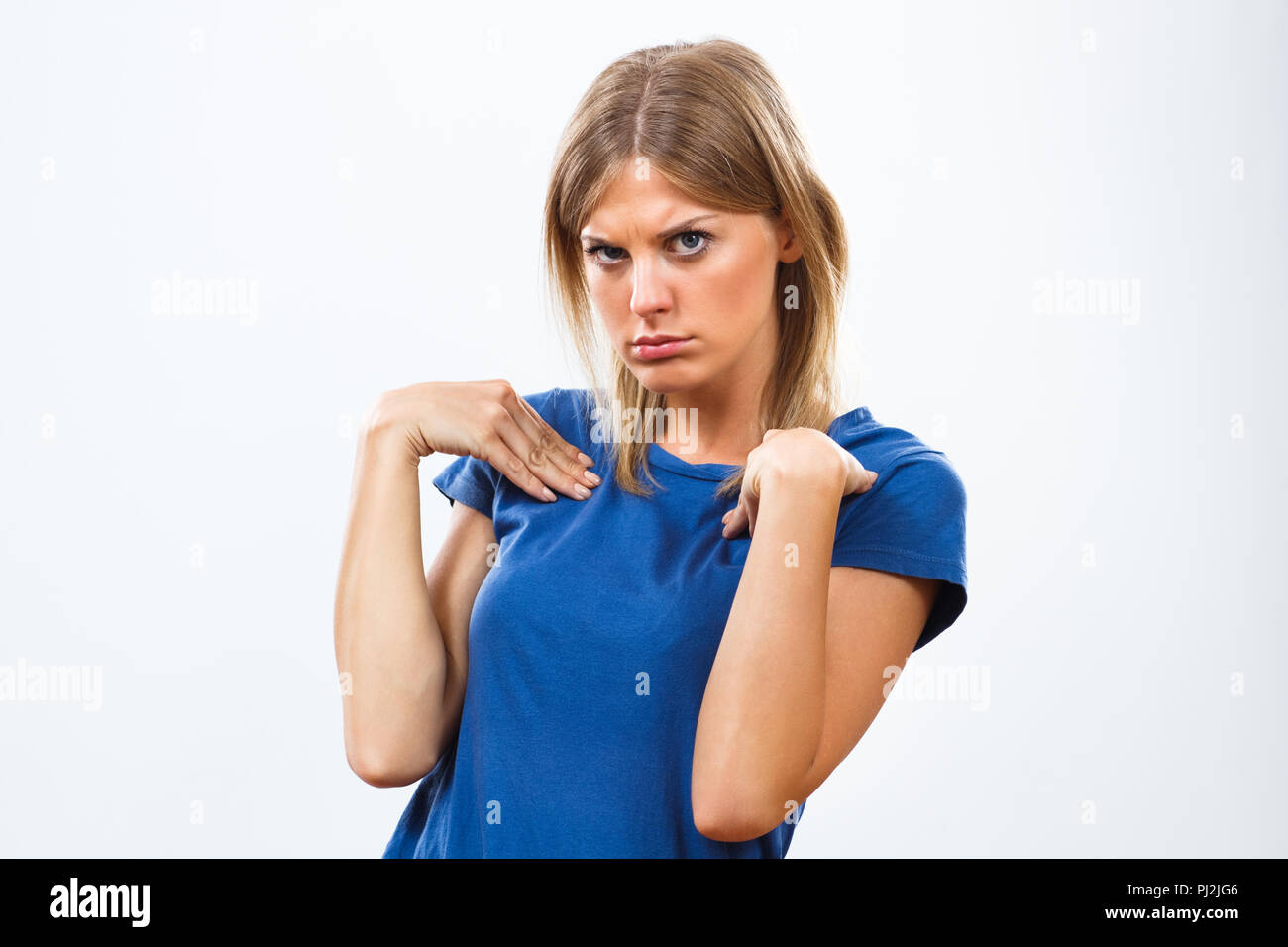 You think it was me?! - Stock Image