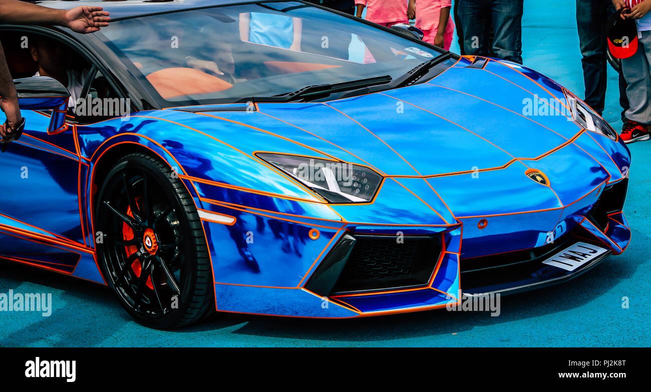 Blue Lamborghini Stock Photos Blue Lamborghini Stock Images Alamy